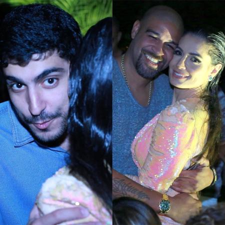 Thiago Magalhães, ex de Anitta, e Adriano Imperador, vão a aniversário de Franciely Freduzeski - Dilson Silva/AgNews