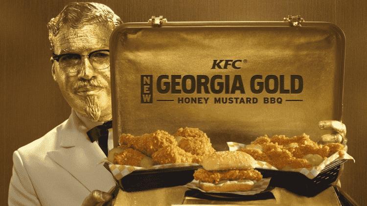 Billy Zane em propaganda do KFC - Reprodução - Reprodução