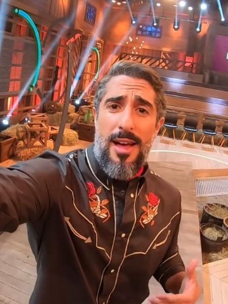 """Marcos Mion durante a final de """"A Fazenda 10"""" - Reprodução/Instagram"""