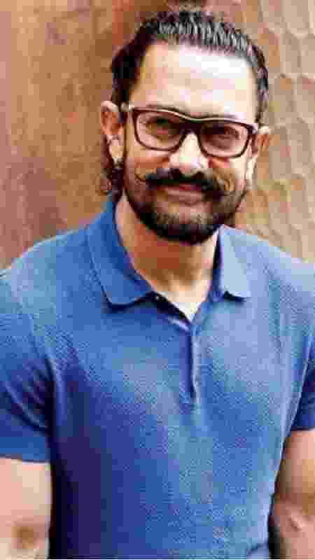 Aamir Khan, que interpretará Laal Singh Chaddha, o Gump indiano - Reprodução - Reprodução