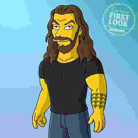 Jason Momoa em sua versão no melhor estilo de Os Simpsons - Divulgação/EW