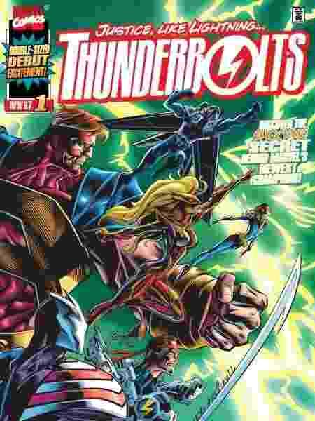 Capa da edição #1 de Thunderbolts, de 1997 - Reprodução - Reprodução