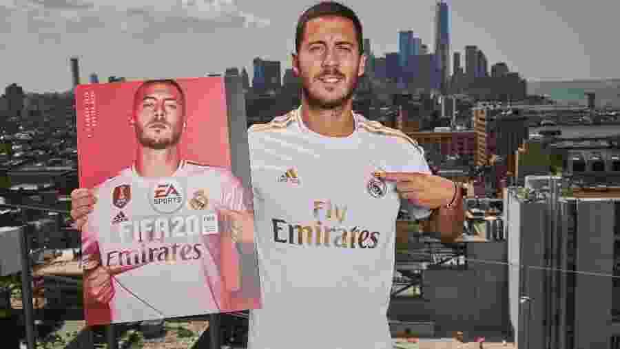 O belga do Real Madrid está na capa da edição padrão de FIFA 20, que chega em 27 de setembro - Mark Robinson/EA Sports