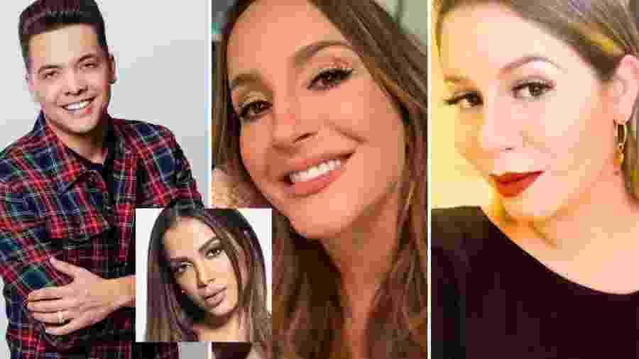 Safadão, Claudia Leitte e Marília Mendonça estão no zap com famosos revelado por Anitta - Reprodução/ Instagram