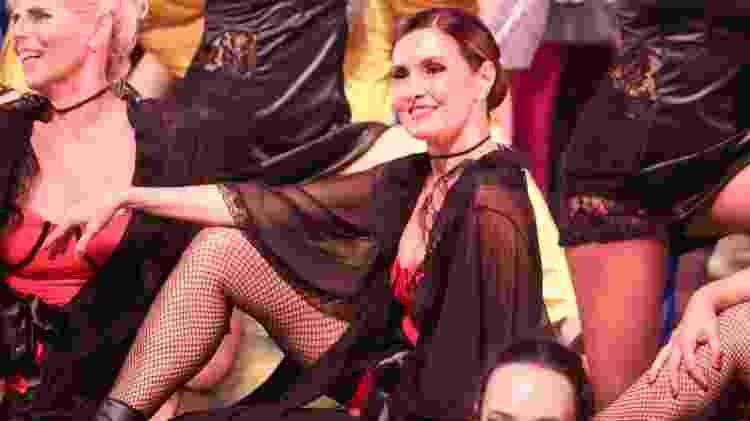 Fátima Bernardes no palco durante apresentação com o Ballet Carlota Portela - ROGERIO FIDALGO/AGNEWS
