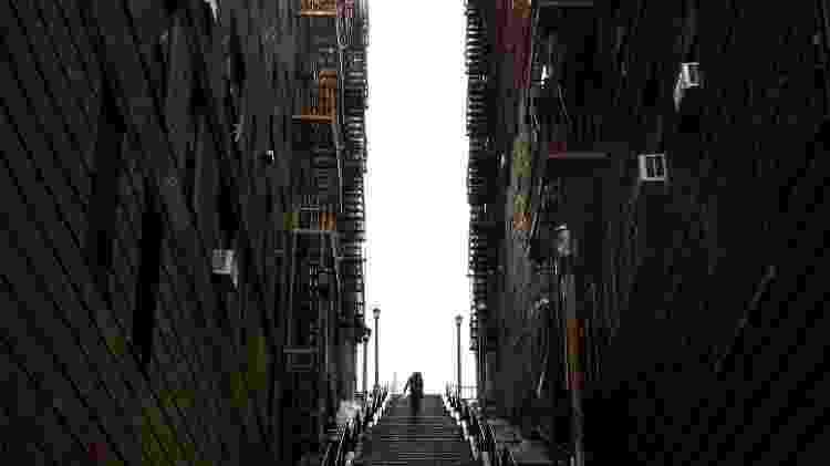"""As escadarias que viraram ponto turístico de Nova York por causa do filme """"Coringa"""" - Getty Images"""