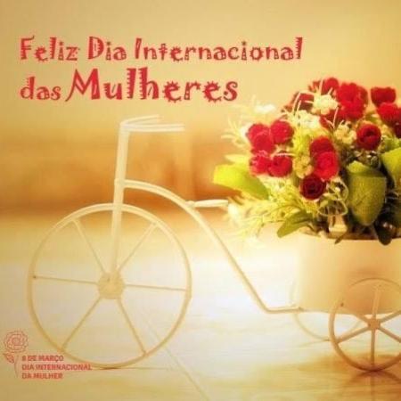 """Você recebeu uma bicicletinha """"delicada"""" com flores neste domingo (8)? - Reprodução/Twitter"""