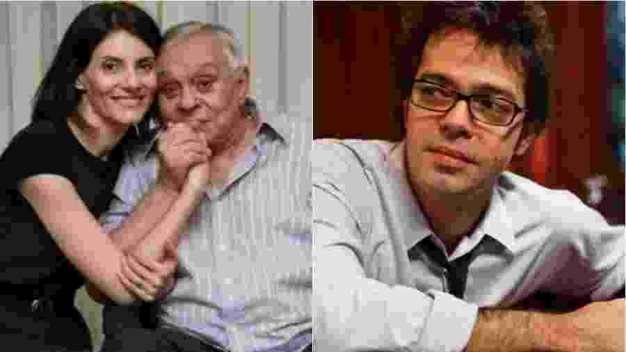 Malga Di Paula, viúva de Chico Anysio, e Bruno Mazzeo  - Montagem de fotos de reprodução/Instagram