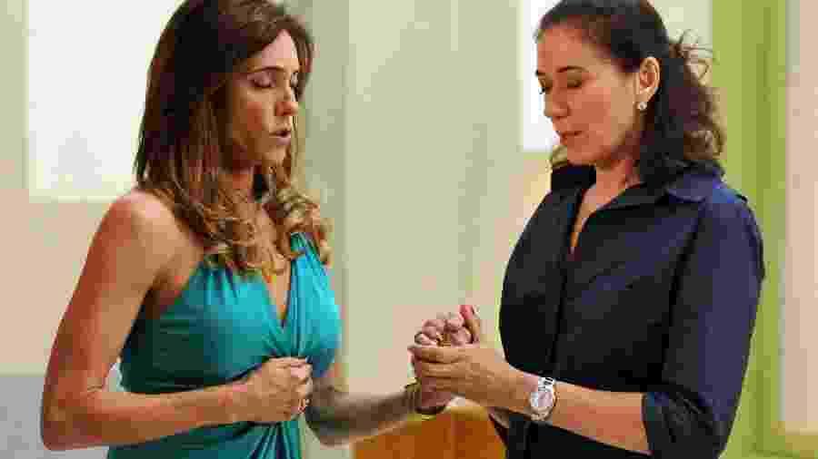 Griselda e Tereza Cristina rezam pela saúde de Patrícia - TV GLOBO / Alex Carvalho