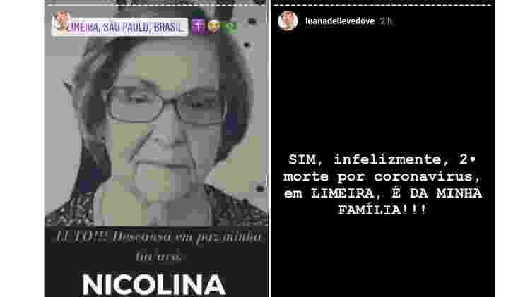 luana dellevedove lamenta morte de tia avo 1589285032407 v2 750x421 - 'Não é gripezinha': namorada de filho de Bolsonaro perde tia para covid-19