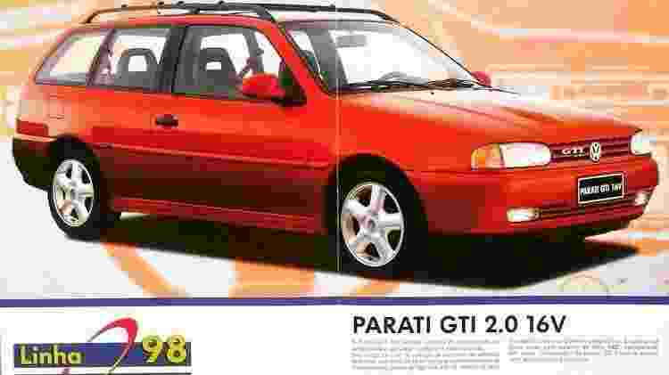 Volkswagen Parati GTI MIAU - Reprodução/MIAU (Museu da Imprensa Automotiva) - Reprodução/MIAU (Museu da Imprensa Automotiva)