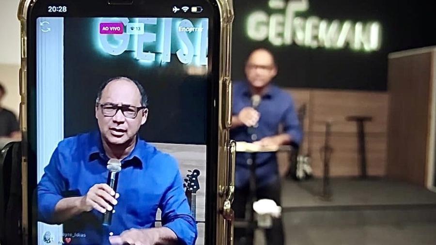 Pastor Jeremias Barroso, da Igreja Getsemani, em imagem disponível em seu site - Reprodução/Igreja Getsemani