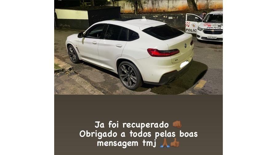 BMW X4 roubado do jogador Otero, do Corinthians - Reprodução