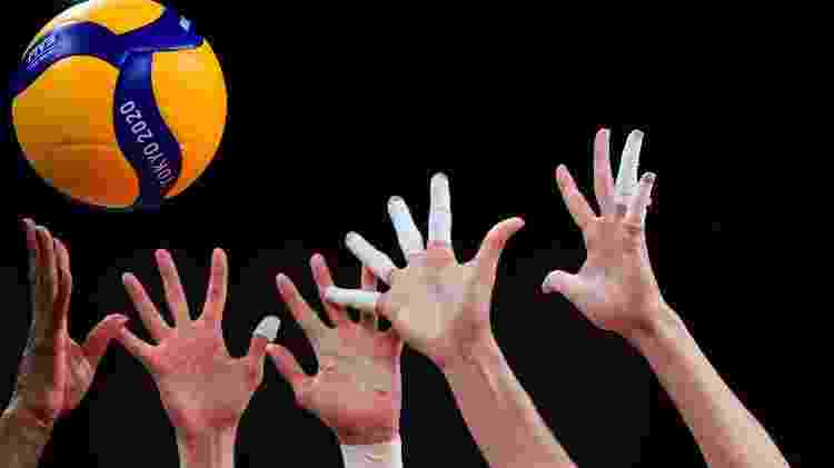 dedos com bandagens rígidas, esparadrapos, vôlei, olimpíadas - Pedro Pardo / AFP - Pedro Pardo / AFP