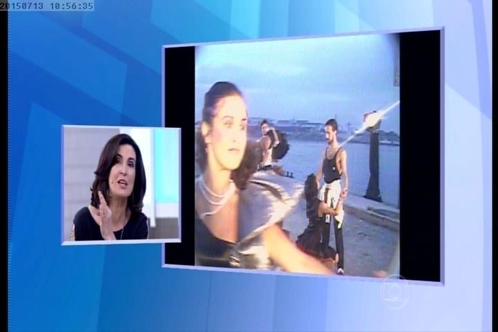 Fátima Bernardes em clipe da banda Barão Vermelho