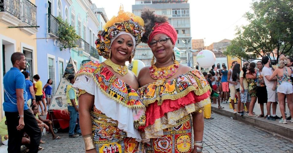 9.fev.2016 - O Carnaval baiano também foi de tradição no Centro Histórico de Salvador