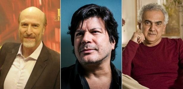 O ator Odilon Wagner, o cantor Paulo Ricardo e o escritor Milton Hatoum - Fotomontagem/UOL