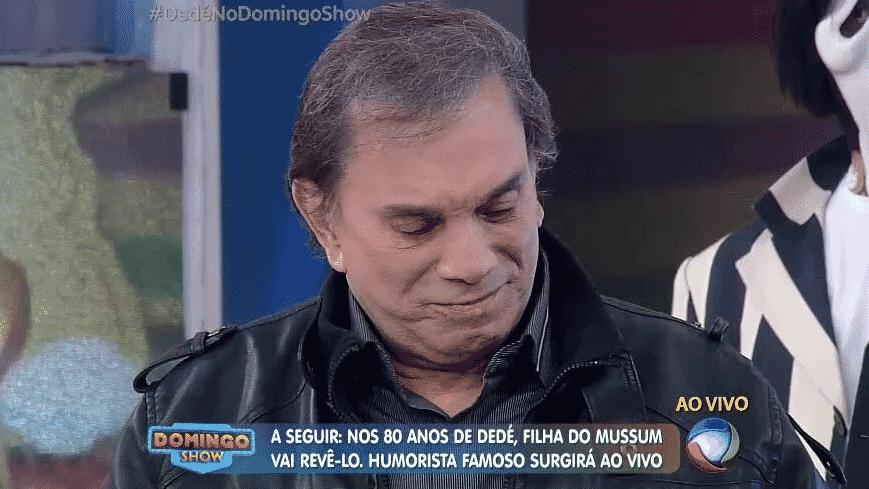 15.mai.2016 - Dedé Santana - Reprodução/TV Record