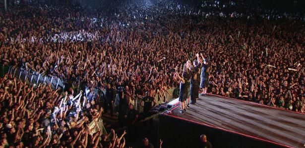 CPM 22 durante show no Rock in Rio 2015 - Divulgação