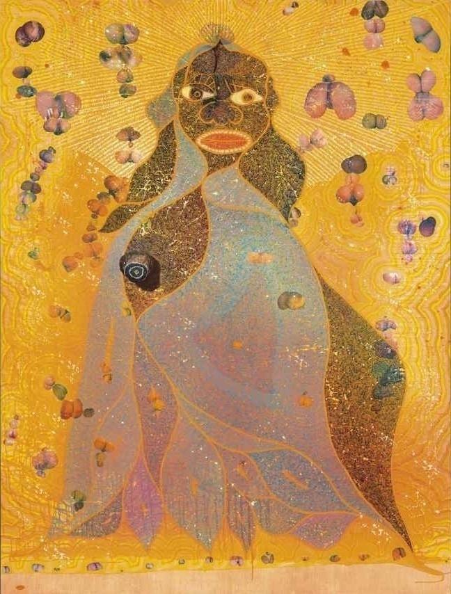 """""""Virgem Maria"""" (1996), de Chris Ofili"""
