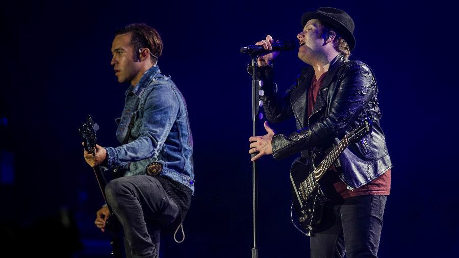 A banda Fall Out Boy se apresenta no Rock In Rio em 2017 - Eduardo Anizelli/Folhapress