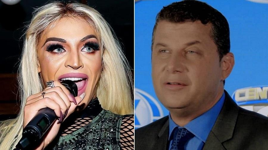 A cantora Pabllo Vittar e o apresentador esportivo José Ilan - Montagem/UOL