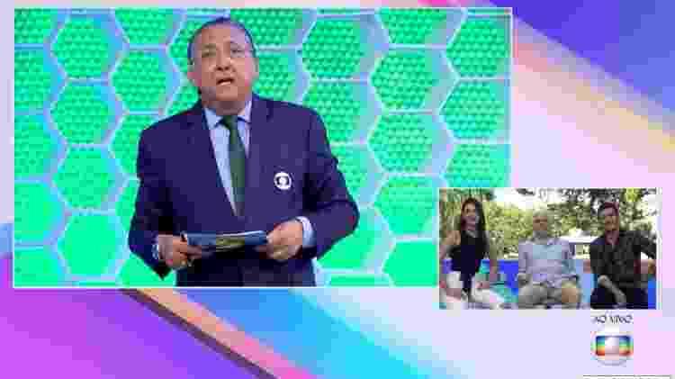 """Galvão Bueno troca nome de Sophia Abrahão ao vivo no """"Vídeo Show"""" - Reprodução/Globo - Reprodução/Globo"""