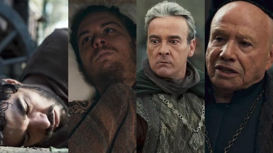"""Ao mesmo tempo que vários atores saíram, vários entraram em """"Deus Salve o Rei"""" - Reprodução/Globo/Montagem UOL"""