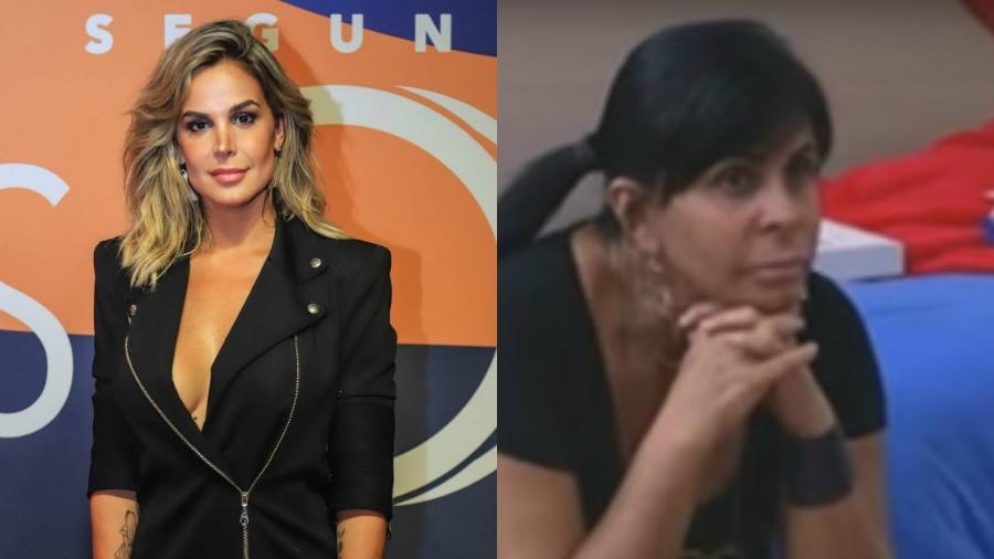 """Robertha Portella e Gretchen não se deram anda bem na quinta edição de """"A Fazenda"""" - Reprodução/Record/Paulo Belote/Globo"""