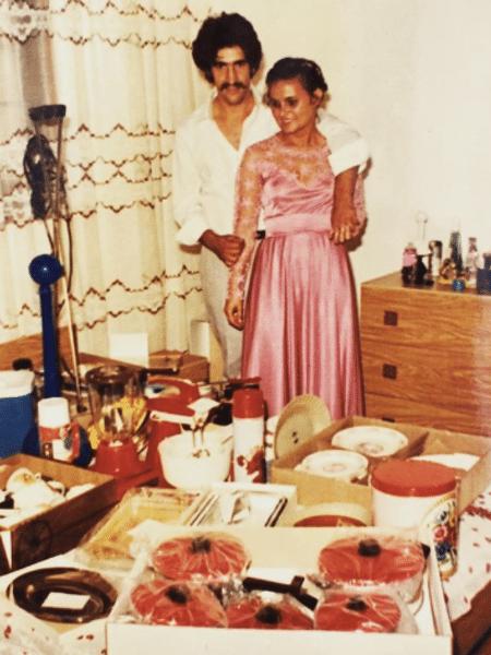 Ratinho e a mulher, Solange, no dia do casamento - Reprodução/Instagram