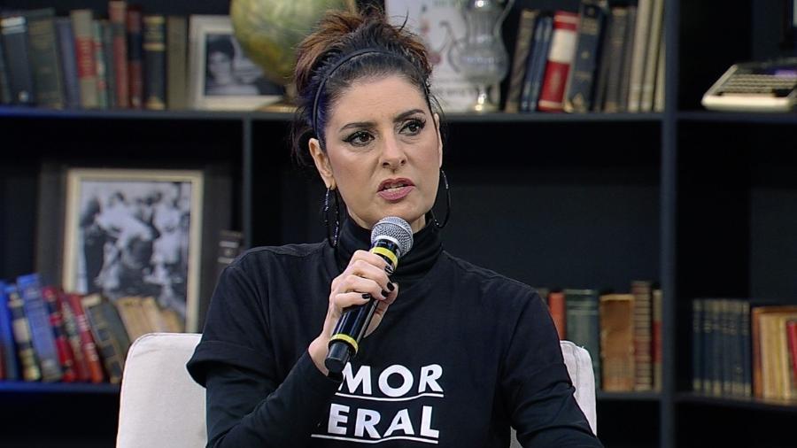 """Fernanda Abreu no programa """"Mariana Godoy Entrevista"""", da RedeTV! - Divulgação/RedeTV!"""
