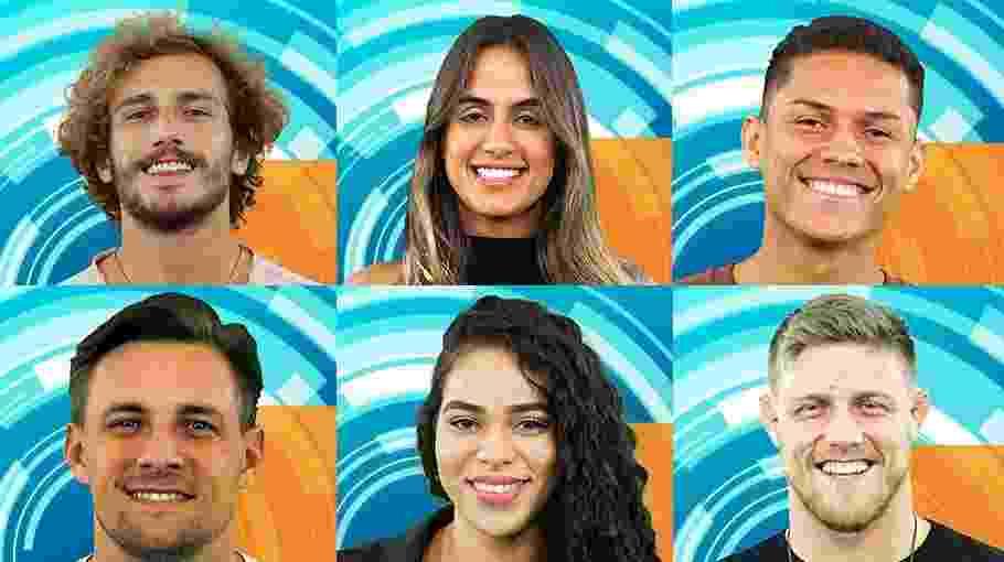 "Os seis primeiros participantes anunciados do ""BBB19"" - Montagem/TvGlobo"