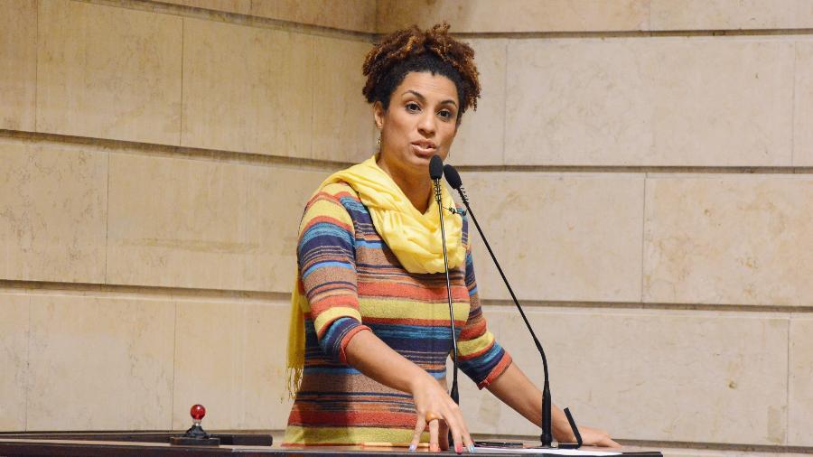 Marielle Franco na Câmara Municipal do Rio de Janeiro - Folhapress