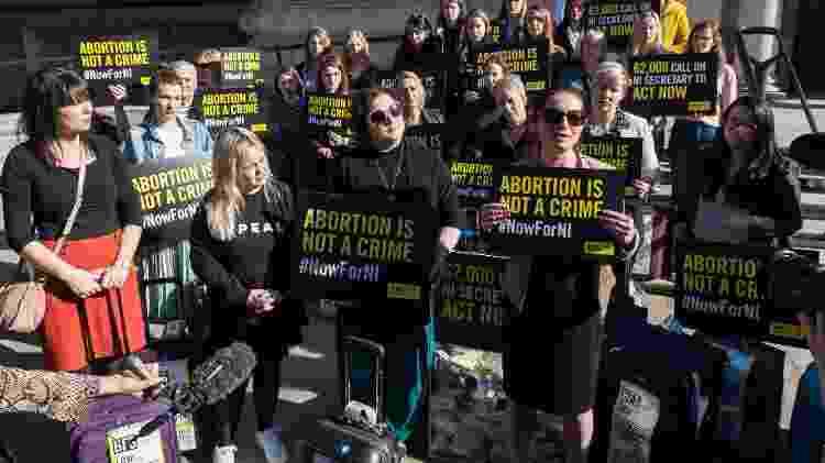 Mulheres protestam pelo aborto na Irlanda do Norte - Getty Images - Getty Images