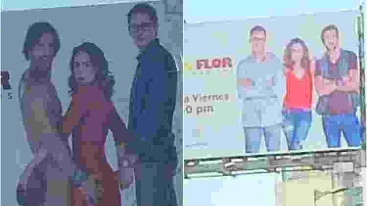 """Televisa muda outdoor de """"Doña Flor"""" - Reprodução/Instagram Montagem/UOL - Reprodução/Instagram Montagem/UOL"""