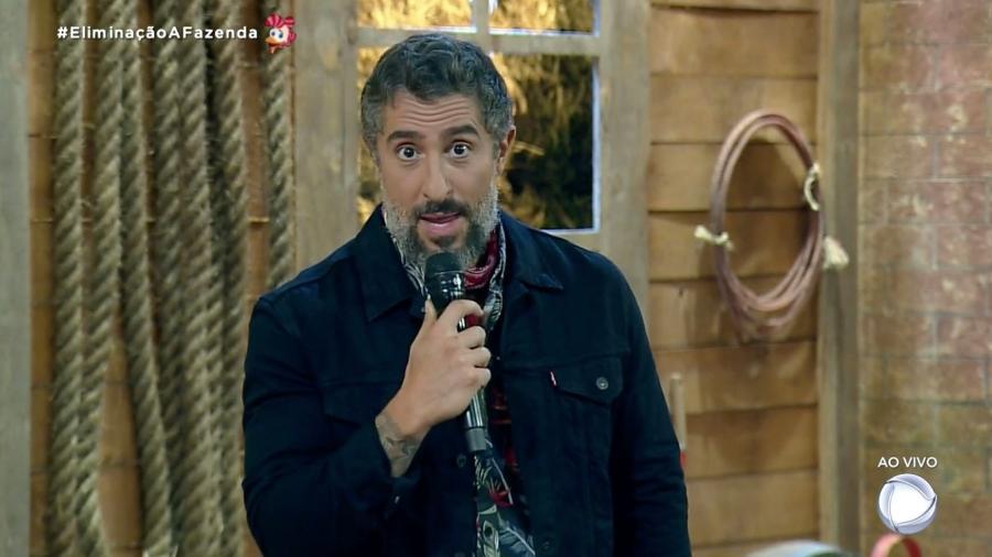 Marcos Mion apresenta A Fazenda 2019 em noite de eliminação - Reprodução/RecordTV