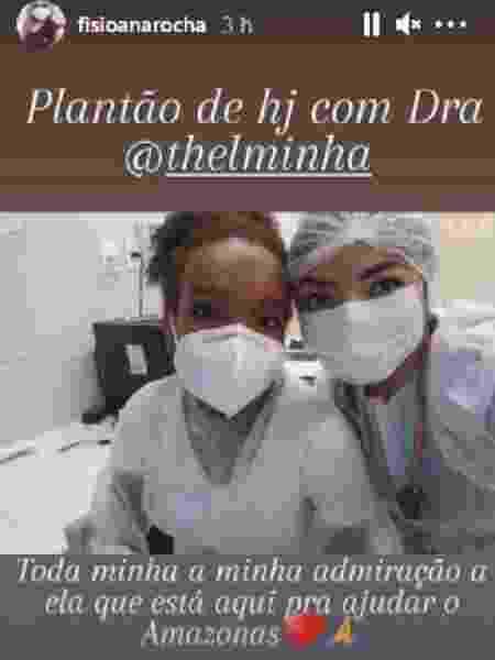 Thelma Assis trabalha em hospital de Manaus no combate à Covid-19 - Reprodução/Instagram - Reprodução/Instagram