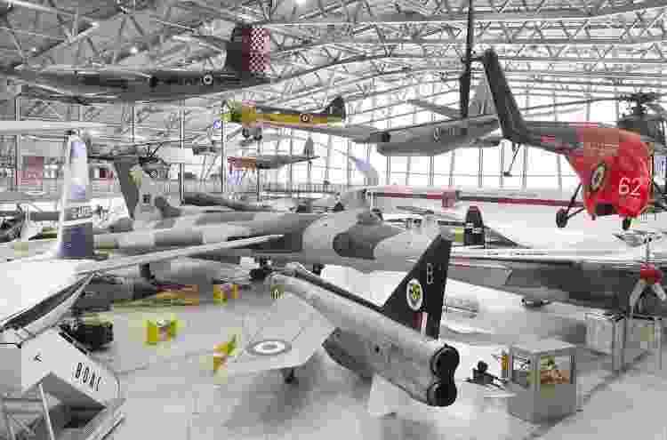 Diversos tipos de aviões, históricos e atuais, podem ser encontrados no Museu Imperial de Guerra, na Inglaterra - Divulgação/Museu Imperial de Guerra - Divulgação/Museu Imperial de Guerra