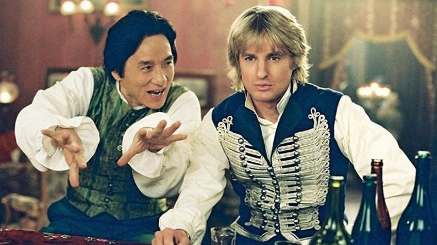 """Jackie Chan e Owen Wilson em """"Bater ou Correr em Londres"""" (2003) - Reprodução"""