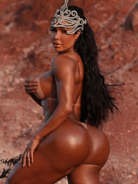 Gracyanne Barbosa posa nua no Instagram - Reprodução/Instagram