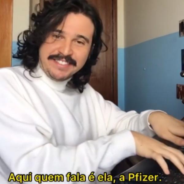 Rafael Chalub, o Esse Menino, em sua esquete da 'Pifaizer'