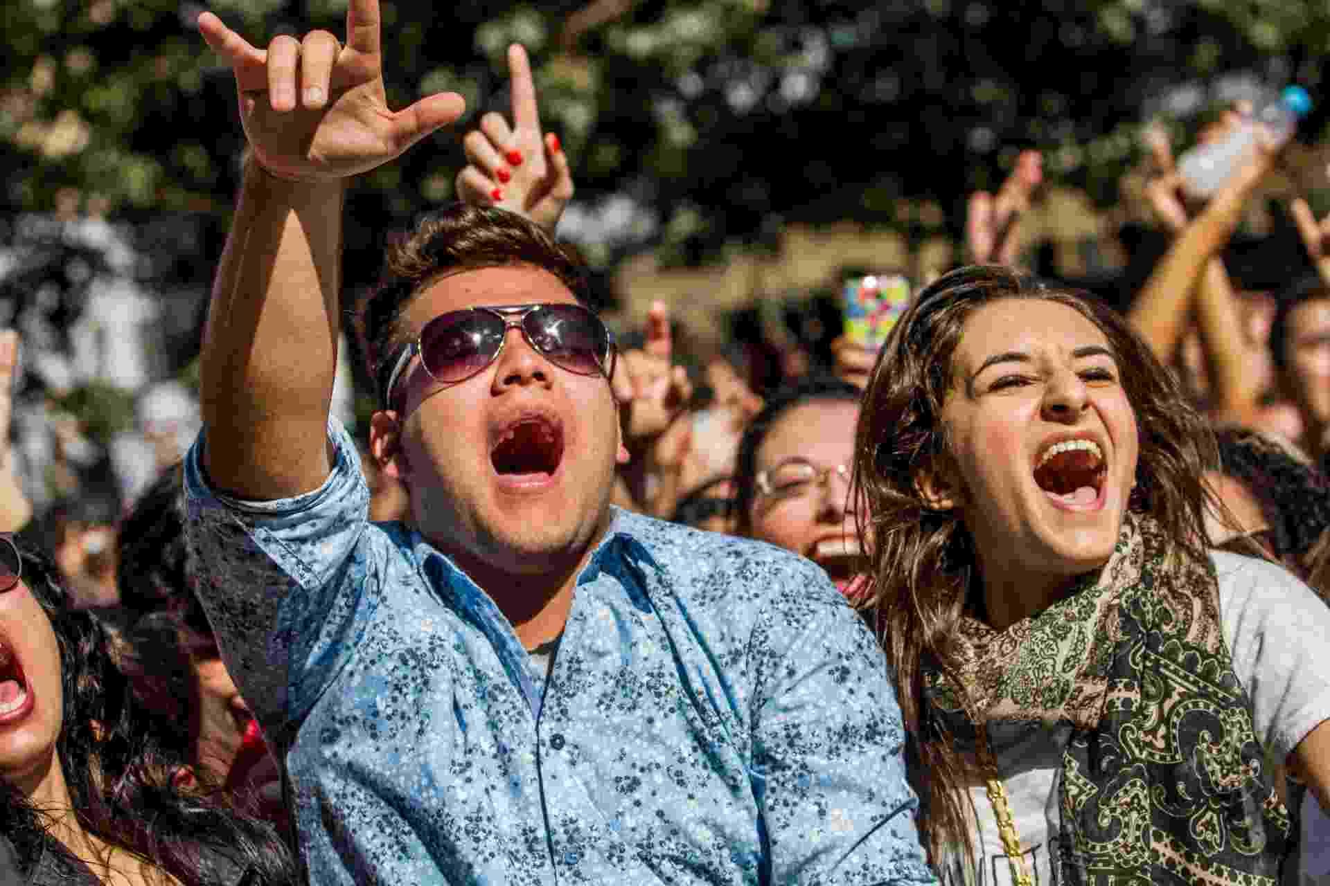 21.jun.2015 - Público durante show de Nando Reis no Palco Julio Prestes, dentro da programação da Virada Cultural 2015, em São Paulo - Carla Carniel/Frame/Estadão Conteúdo