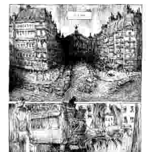 """Página da HQ """"Goela Negra"""", de Antoine Ozanan, ilustrada pelo brasileiro Lelis - Divulgação"""