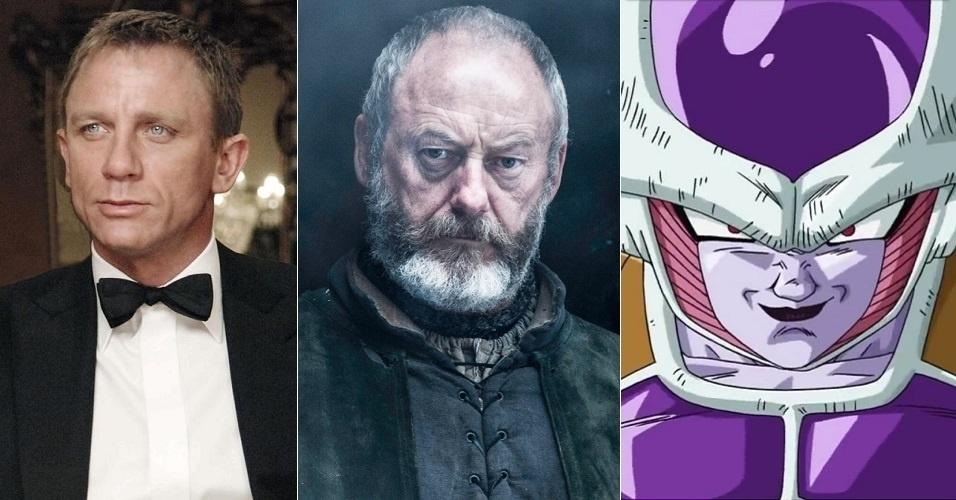 """Davos Seaworth (Liam Cunningham) tinha a voz de Daniel Craig, dublado por Ronaldo Júlio em """"007"""". Na sexta temporada, recebeu a voz de Carlos Campanille, famoso por Freeza em """"Dragon Ball Z"""""""