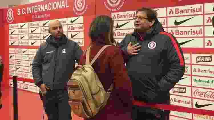No estádio Beira-Rio, Guto Ferreira pede desculpas para Kelly Costa após comentário machista - Reprodução/FacebookRenatadeMedeiros - Reprodução/FacebookRenatadeMedeiros