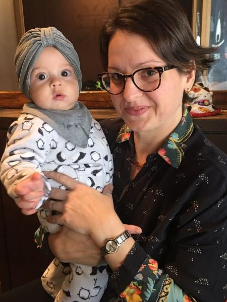 Gael com a mãe Ana Paula Siewerdt - Arquivo Pessoal