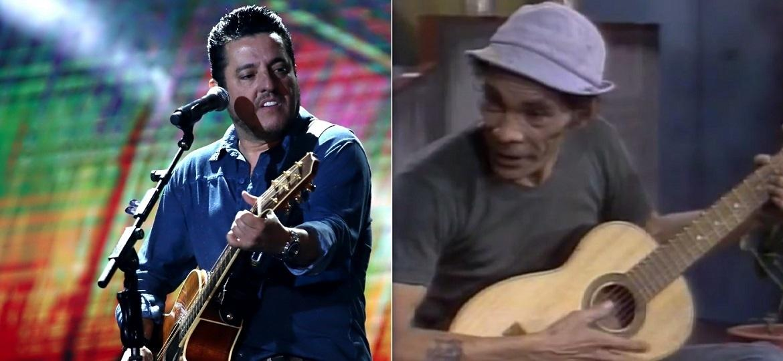 """Bruno, da dupla com Marrone, e Seu Madruga (Ramón Valdés) em """"Chaves"""" - Montagem/UOL"""