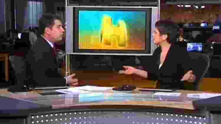 """Sandra Annenberg se choca e dispara: """"Que deselegante"""" - Reprodução/TV Globo"""