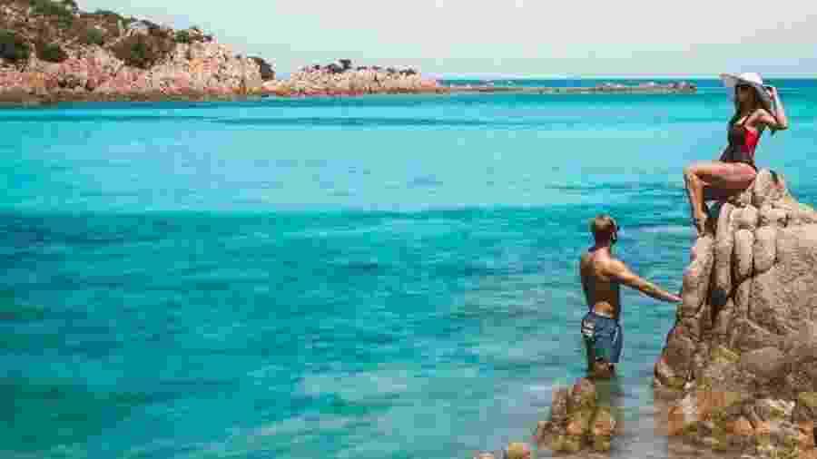 Os Stohler posam em praia italiana - Scott Stohler