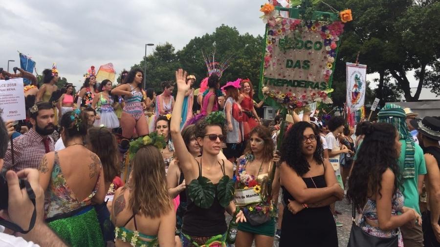 Foliões desfilam no Cordão do Boi Tolo na abertura do Carnaval não oficial do Rio - Giovani Lettiere/UOL